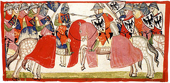 Depiction of the Battle of Benevento from the Nuova Cronica by Giovanni Villani, 14th century