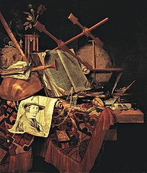 Vanitas with a Portrait of the Painter