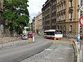 Vinohrady, Bělehradská, rekonstrukce TT, X-11 v zastávce Pod Karlovem.jpg