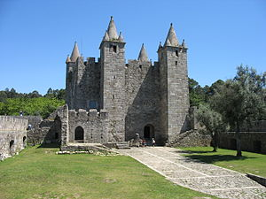 Castle of Santa Maria da Feira - The interior courtyard and main keep of the Castle of Feira