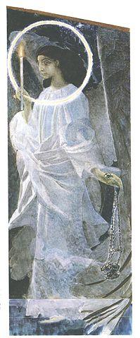 Ангел с кадилом и свечой. Эскиз фрески Владимирского собора, 1887