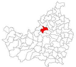 Location of Vultureni