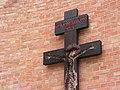 Włocławek-coronavirus plague cross on the Saintest Savior Church (4).jpg