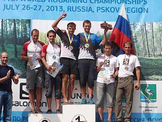 World Rogaining Championships - World Rogaining Championships 2013 Men's Open winners. From left: Rait Pallo, Timmo Tammemäe – silver (Estonia), Rain Eensaar, Silver Eensaar – gold (Estonia), Oleg Kalinin, Evgeny Dombrovskiy – bronze (Russia)