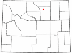 Location of Buffalo, Wyoming
