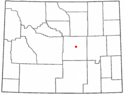 Location of Powder River, Wyoming