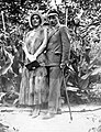 Walking cane, woman, man, double portrait Fortepan 8570.jpg