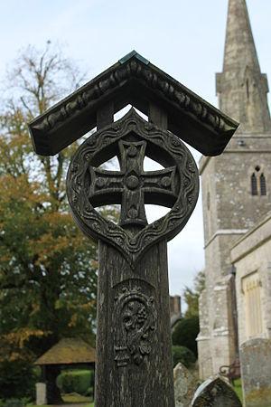 Littlebredy - Frederic Wallis memorial in the churchyard (base not shown)
