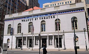 Walnut Street Theatre from east
