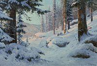Walter Moras - Verschneite Waldlandschaft (02).jpg