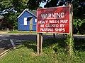 Warning sign, Hillhead - geograph.org.uk - 438597.jpg