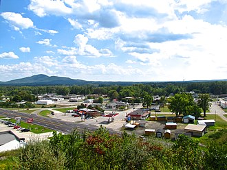 Wartburg, Tennessee - View of Wartburg with Lone Mountain on the left