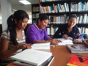 Indigenous peoples of South America - Wayuu students in a library at Universidad del Zulia, Venezuela, 2012