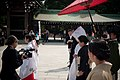 Wedding ceremony at Meiji Shrine, Japan; October 2009.jpg