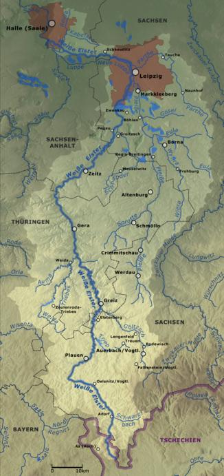 Fluss In Leipzig weiße elster