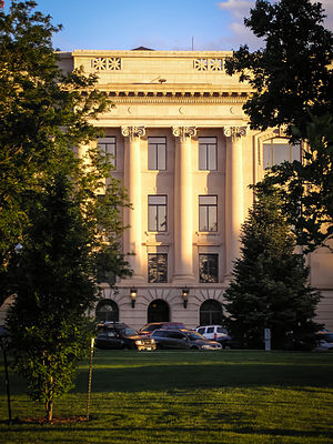 Weld County, Colorado - Weld County Courthouse from Lincoln Park.