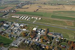 Aview of Smoketown, including the Smoketown Airport