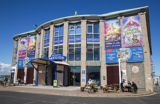 Weymouth Pavilion theatre in Weymouth, Dorset, England (1960-)