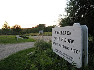 Whaleback Shell Midden - Entrance to state historic site