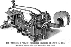 Allen B. Wilson - Image: Wheeler & Wilson Sewing Machine 1852