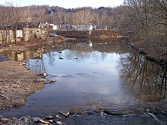 Wheeling Creek (West Virginia) - Wheeling Creek in Wheeling in 2006