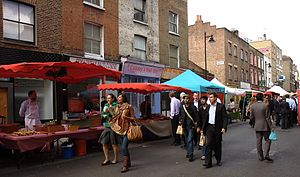 St Luke's, London - Image: Whitecross Street Market