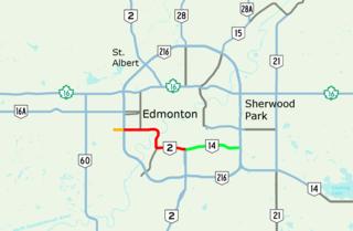 Whitemud Drive highway in Alberta