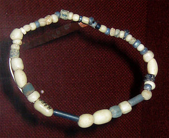 Wichita people - Trade beads found at a Wichita village site, ca. 1740, collection of the Oklahoma History Center