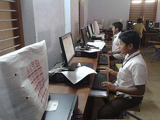 Kulathupuzha - Malayalam Wiki source school students competition at samuel oomen memorial government technical high school, Kulathupuzha