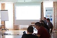 Wikimedia Hackathon Vienna 2017-05-19 Fantastic MediaWikis 013.jpg