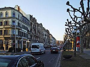 Wilhelmstraße (Wiesbaden) - Wilhelmstraße towards its northern end