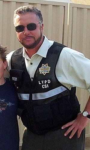 William Petersen - Petersen on the set of CSI in March 2004.