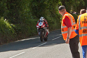 Sulby, Isle of Man - Image: William Dunlop Sulby Straight