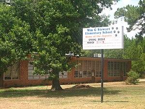 William G. Stewart Elementary School - Front of William G. Stewart Elementary School (1949–2011)