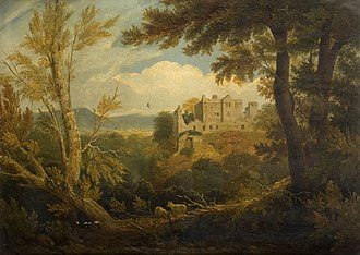 William Linton (artist) - Castle Campbell. 1820s. Wolverhampton Art Gallery