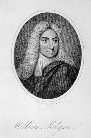 University Philosophical Society - William Molyneux, founding member