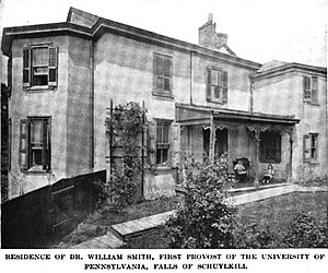 William Smith (Episcopalian priest) - Dr William Smith's residence as it appeared circa 1919