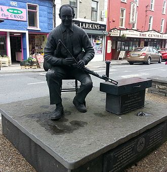Milltown Malbay - The memorial to Willie Clancy in Miltown Malbay, Ireland.