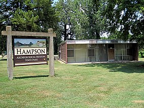 Wilson AR Hampson Museum State Park 58 sign and museum.jpg