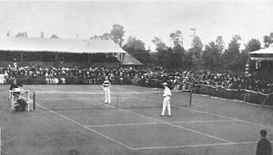 1883 Wimbledon Championship - Centre Court in 1883, Challenge Round between William and Ernest Renshaw