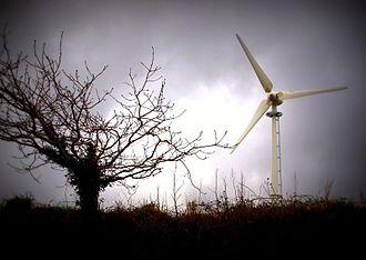 St Mabyn - Wind turbine at Burlerrow Farm