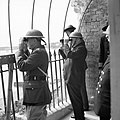 Winston Churchill viewing activity in the Channel from an observation post at Dover Castle during his tour of defences, 28 August 1940. H3499.jpg