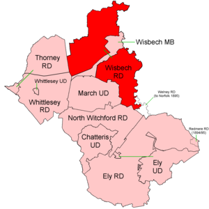 Wisbech Rural District - Position within Isle of Ely