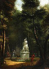 Park Łazienkowski z posągiem Tankreda i Kloryndy