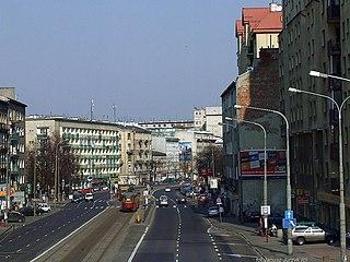 Wolska Street street in Warsaw