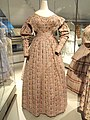 Woman's informal dress, England, textile c. 1827-1834, dress altered c. 1837-1840, cotton tabby - Patricia Harris Gallery of Textiles & Costume, Royal Ontario Museum - DSC09450.JPG