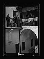 Women's Institute, Jerusalem. The courtyard, women spinning LOC matpc.19900.jpg