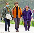 Women walking at Temple of Heaven Park, Beijing.jpg