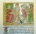 Woodcut illustration of Irene, Empress of the East, and Charlemagne - Penn Provenance Project.jpg