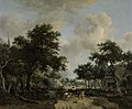 Wooded Landscape with Merrymakers in a Cart by Meindert Hobbema Rijksmuseum Amsterdam SK-A-5026.jpg